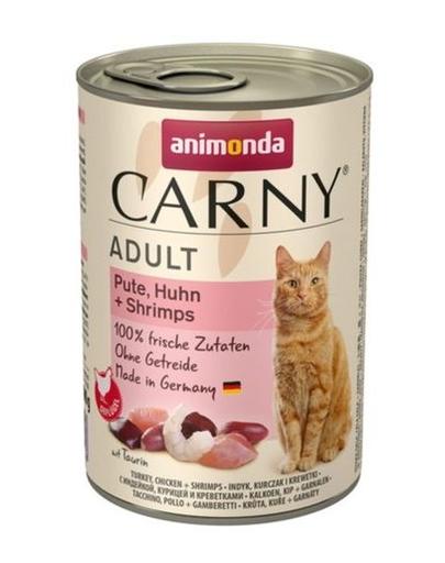 ANIMONDA Carny Adult curcan, pui și creveți 400 gr imagine