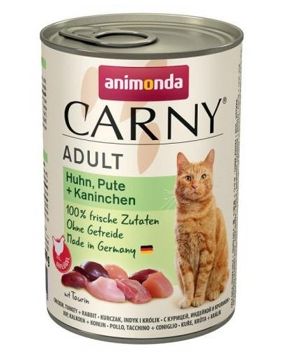 ANIMONDA Carny Adult pui, curcan și iepure 400 gr imagine