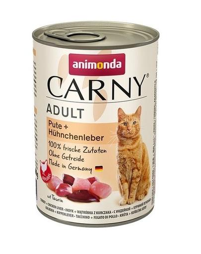 ANIMONDA Carny Adult curcan și ficat de pui 400 gr imagine