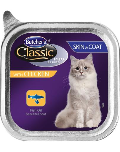 BUTCHER'S Cat Classic Piele&Blană pate cu pui 100 g imagine