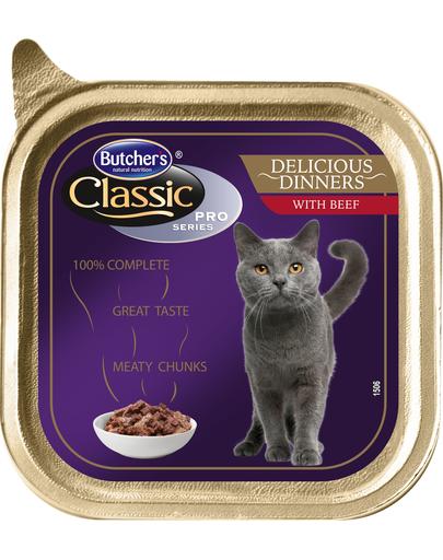 BUTCHER'S Cat Classic Delicious Dinner cu bucăți de vită în sos 100 g imagine