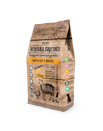 WIEJSKA ZAGRODA Hrană uscată pentru câini de talie mică/mijlocie, miel și rață 9 kg imagine
