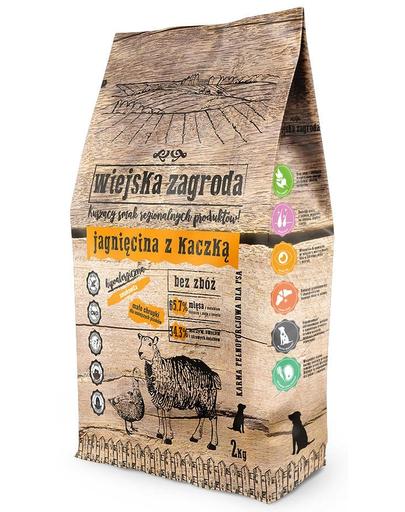 WIEJSKA ZAGRODA Hrană uscată pentru câini de talie mică/mijlocie, miel și rață 2 kg imagine