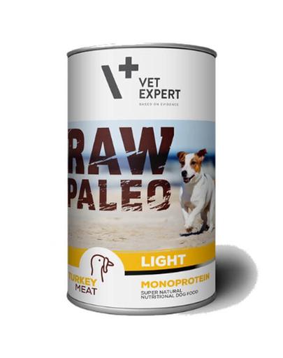 VETEXPERT RAW PALEO Adult Light curcan 400 g imagine