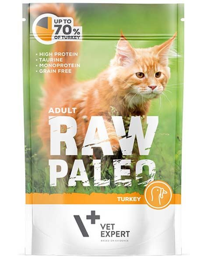 VETEXPERT RAW PALEO Cat Adult cu carne de curcan 100 g imagine