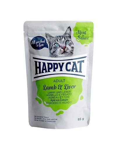HAPPY CAT Meat in sauce Adult, miel și ficat 85 gr imagine