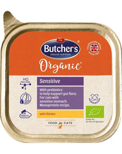 BUTCHER'S Organic Sensitive Monoproteină cu pui 85 g imagine