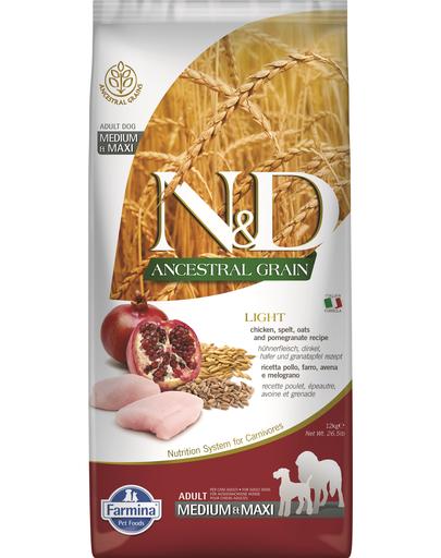 FARMINA Ancestral Grain - Hrană pentru câini de talie medie/mare - pui și rodie - 2,5 kg imagine