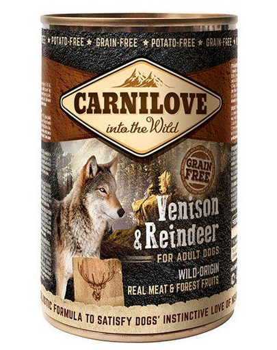 CARNILOVE Wild Meat Vension&Reindeer vânat și ren 400 gr imagine