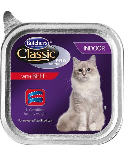 BUTCHER'S Cat Classic Indoor pate cu vită g imagine