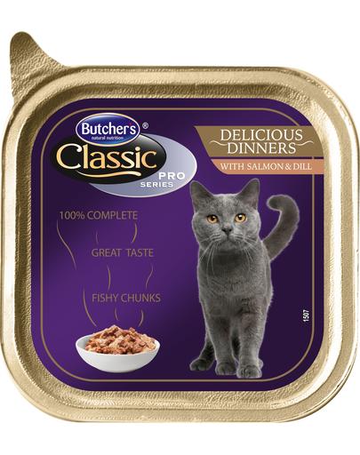 BUTCHER'S Cat Classic Delicious Dinner cu bucăți de somon și mărar în sos 100 g imagine