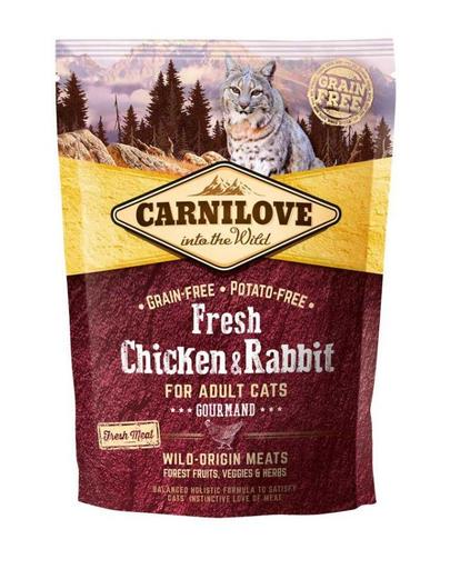 CARNILOVE Adult Gourmand Fresh pui și iepure 400 gr imagine
