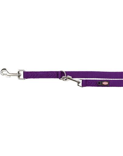 TRIXIE Lesă reglabilă Premium, dublă, M–L: 2.00 m/20 mm, violet imagine