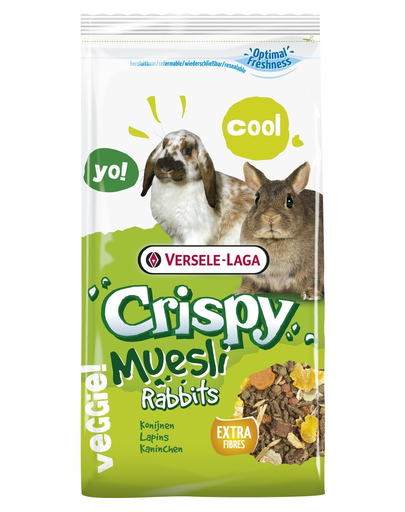 VERSELE-LAGA Crispy Muesli Rabbits mix alimente pentru iepuri miniaturali 400 g imagine