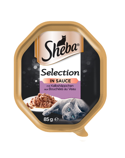 SHEBA Selection vițel în sos 22 x 85 gr imagine
