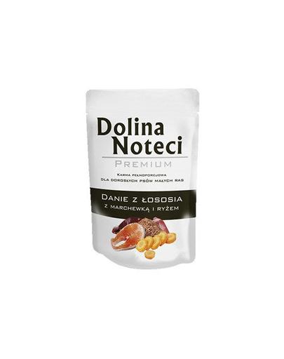 DOLINA NOTECI Premium cu somon, morcovi și orez 100 g imagine