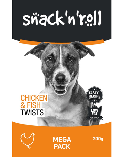 SNACK & ROLL Chicken and Fish Twists, cu pui și pește 200 g imagine