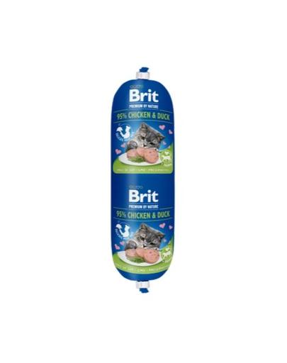 BRIT Cat sausage hrană umedă pentru pisici, pui și rață 180 g imagine