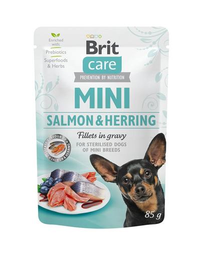 BRIT Care Mini Sterilised hrană umedă pentru câinii de rase mici castrați 85 g imagine