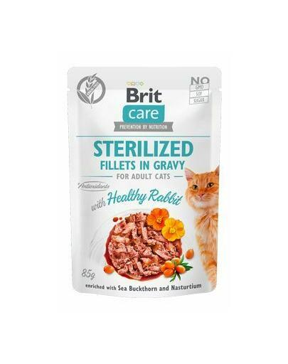BRIT Care Cat Fillets in gravy Sterilised, file de iepure în sos 85 g imagine