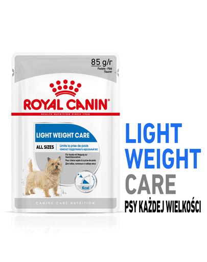 ROYAL CANIN Light Weight Care Hrană umedă pentru câini cu tendință de îngrășare 12 x 85 g imagine