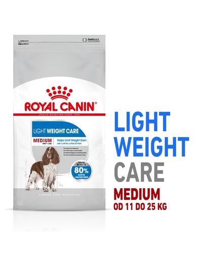 Royal Canin Medium Light Weight Care Adult hrana uscata caine pentru limitarea cresterii in greutate, 10 kg imagine