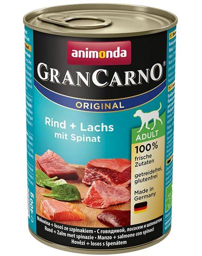 ANIMONDA GranCarno Adult carne de vită, somon și spanac 800 g