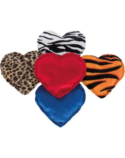 TRIXIE Jucărie inimă de pluș pentru pisici cu valeriană 14 cm imagine