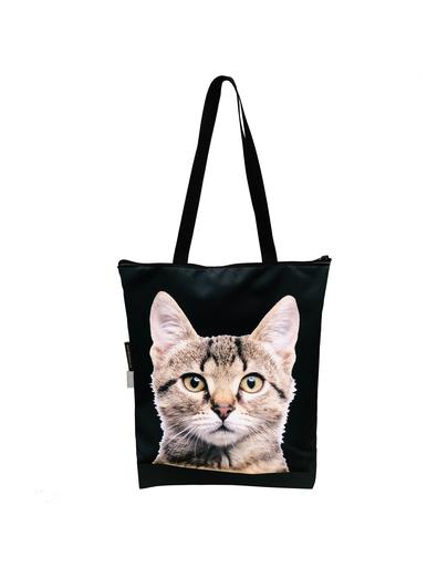 FERA Geantă clasică cu fermoar, pisică imagine