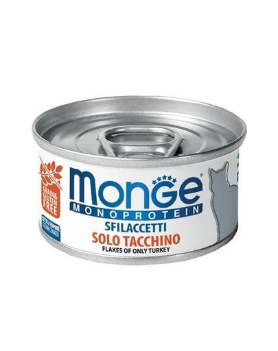 MONGE Monoprotein Cat hrană umedă pentru pisici, curcan 80g imagine