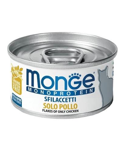 MONGE Cat Monoprotein hrană umedă pentru pisici, cu pui 80g imagine
