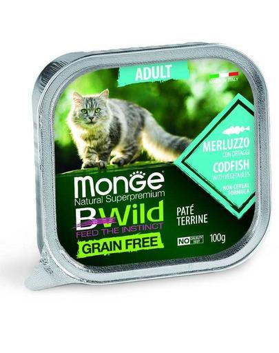 MONGE Bwild Cat Adult hrană umedă pentru pisici, cod 100 g imagine