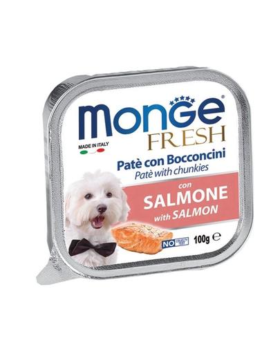 MONGE Fresh hrană umedă pentru câini sub formă de pate, cu somon 100 g imagine