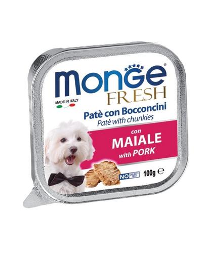 MONGE Fresh hrană umedă pentru câini sub formă de pate, cu porc 100 g imagine