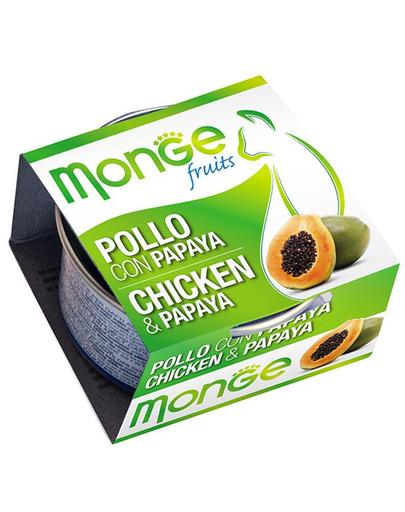 MONGE Fruit hrană umedă pentru pisici, cu pui și papaya 80 g imagine