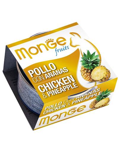 MONGE Fruit hrană umedă pentru pisici, cu pui și ananas 80 g imagine