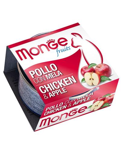 MONGE Fruit hrană umedă pentru pisici, cu pui și mere 80 g imagine