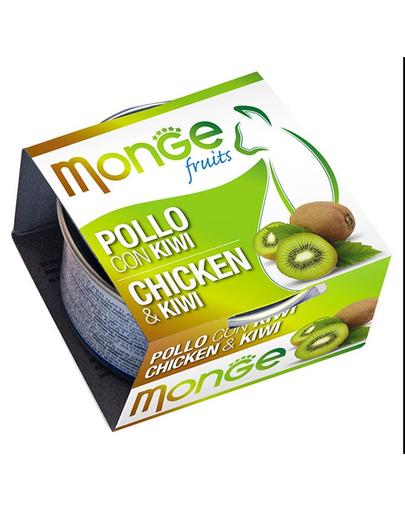MONGE Fruit hrană umedă pentru pisici, cu pui și kiwi 80 g imagine