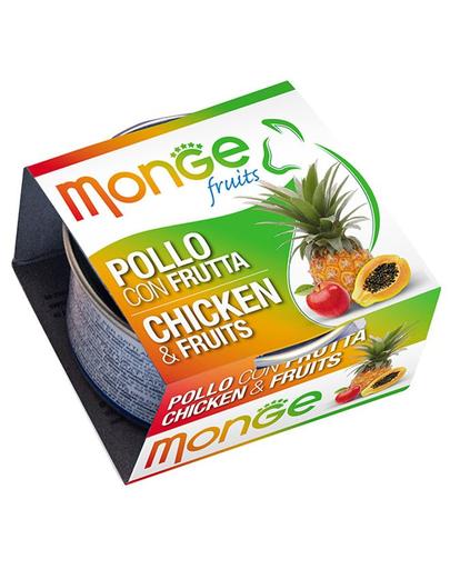 MONGE Fruit hrană umedă pentru pisici, cu pui și fructe 80 g imagine