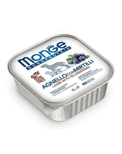 MONGE Fruit Dog Monoprotein hrană umedă pentru câini, cu miel și afine 150 g imagine