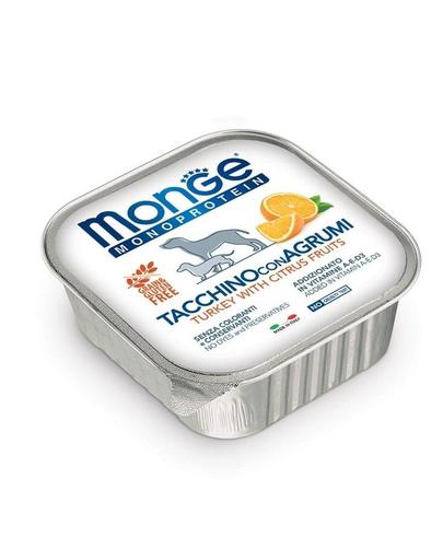 MONGE Fruit Dog Monoprotein hrană umedă pentru câini, curcan și portocale 150 g imagine