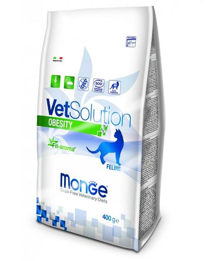 MONGE Vet Solution Obesity hrană uscată dietetică pentru pisici supraponderale 400g imagine