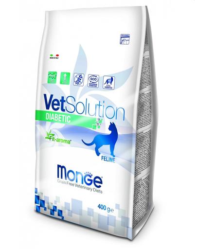 MONGE Vet Solution Cat Diabetic hrană uscată dietetică pentru pisici cu diabet 400g imagine