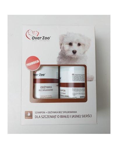 OVER ZOO Set șampon și balsam pentru cățeluși cu blana albă/deschisă la culoare 490 ml imagine