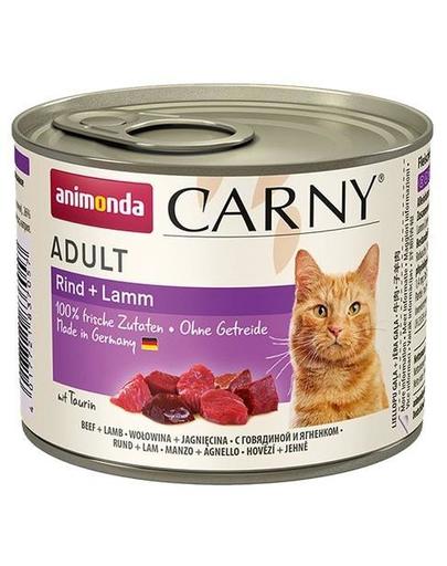 ANIMONDA Carny pentru pisici cu vită și miel 200 g imagine