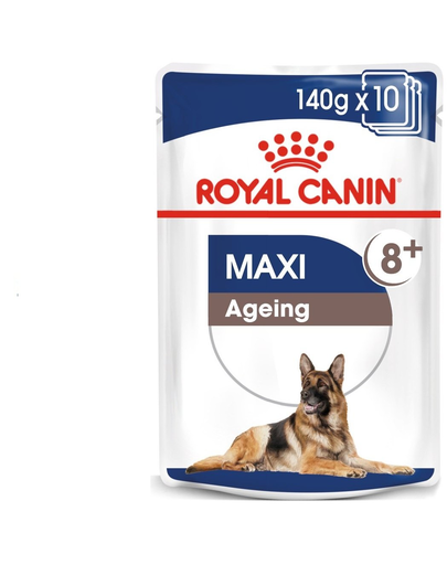 Royal Canin Maxi Ageing 8+ Hrană Umedă Câine 10x140 g imagine