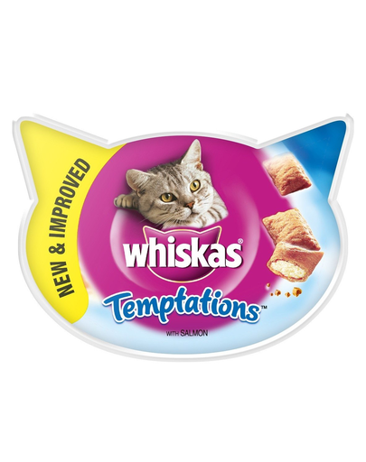 WHISKAS Temptations cu somon 60 g x 8