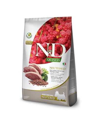 FARMINA N&D Quinoa - Hrană pentru câini, după castrare - talie mică - rață, broccoli și sparanghel - 2,5 kg imagine