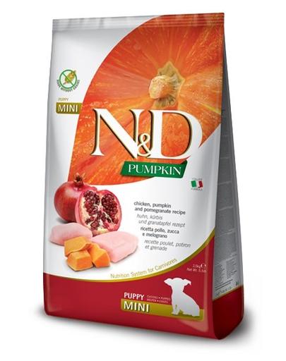 FARMINA N&D Pumpkin - Hrană uscată pentru pui de cățel - dovleac, pui și rodie - 7 kg imagine