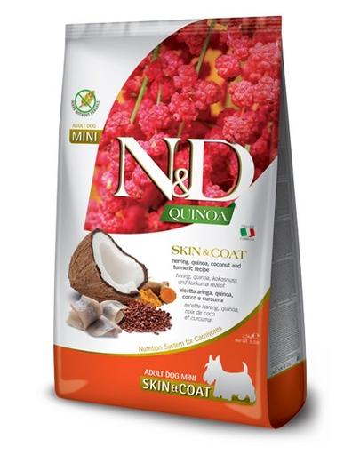 FARMINA N&D Quinoa - Hrană uscată dietetică pentru câini adulți - talie mică - hering și nucă de cocos - 2,5 kg imagine
